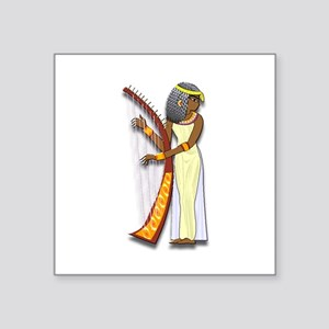 "Harpist Square Sticker 3"" x 3"""